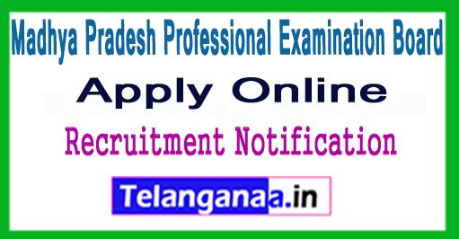 VYAPAM Madhya Pradesh Professional Examination Board Recruitment Notification 2017
