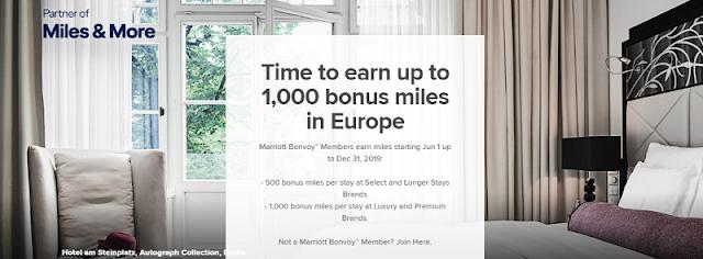 入住Marriott萬豪歐洲酒店 最高可獲得漢莎航空 (Lufthansa) 1,000 Miles & More miles!