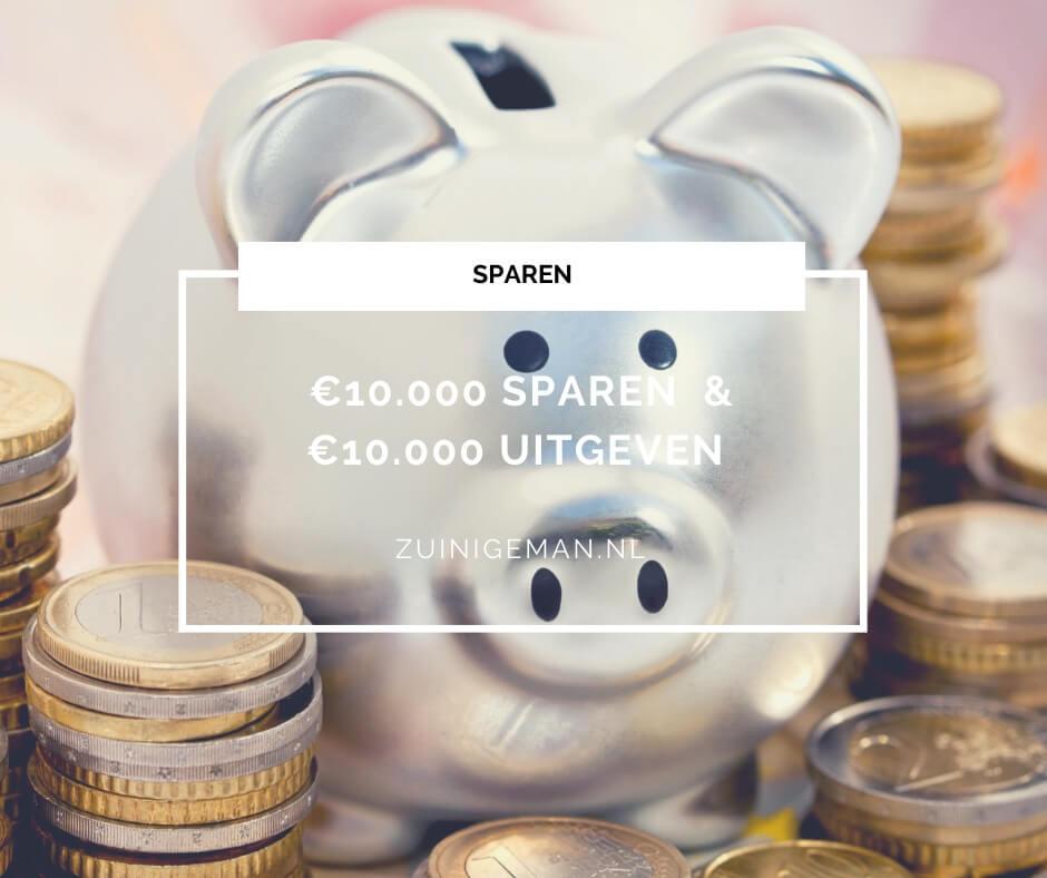 €10.000 sparen gaat moeilijk & €10.000 uitgeven gaat makkelijk