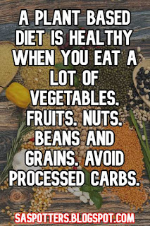 A plant based diet is healthy when you eat a lot of vegetables, fruits, nuts, beans and grains. Avoid processed carbs.