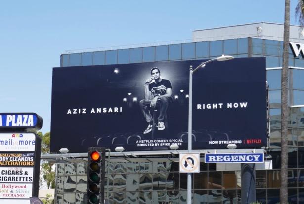 Aziz Ansari Right Now billboard