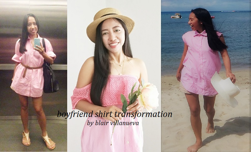 How I transform My Pink BF Shirt from Boring to Sweet Look