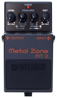 Boss Metal Zone MT-2 Pedal: Características