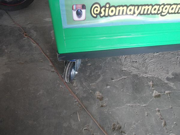 Roda Gerobak Aluminium