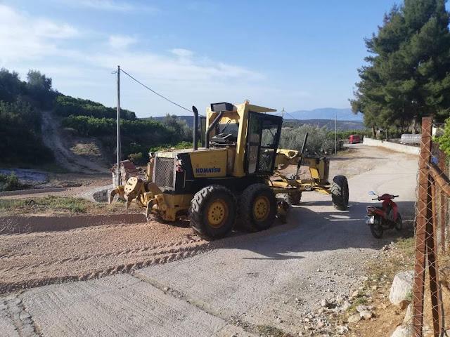 Καθαρισμός και συντήρηση υποδομών από τον Δήμο Ναυπλιέων στην Τ.Κ Δρεπάνου