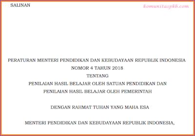 Permendibud Nomor 4 Tahun 2018