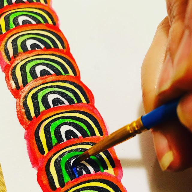 kuretake gansai tambi watercolor rainbows
