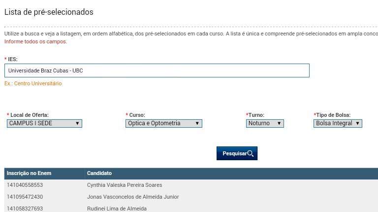 ... confirma o reconhecimento do MEC sobre a optometria brasileira, pois  está claro que o governo já financia educação para cursar optometria no  nosso país. f5d4bdbb84