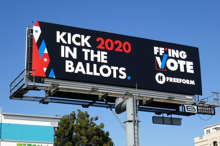 Kick them in ballots Freeform FFing vote billboard
