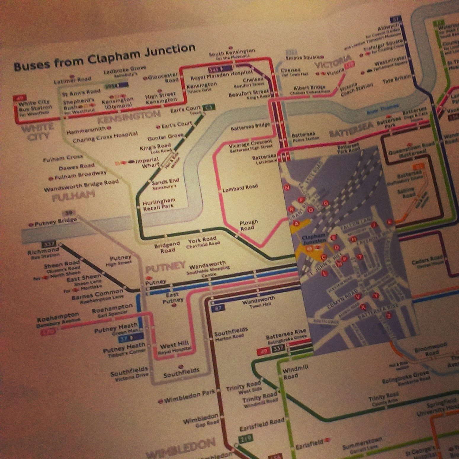 9pm - planning the next day's bus routes