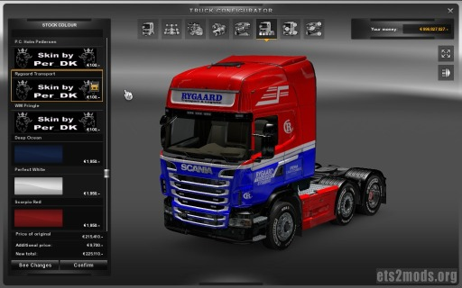 Reallife Scania skin pack