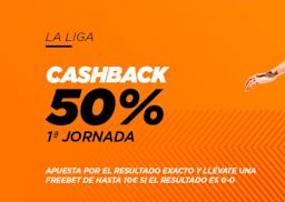 Kirolbet promo liga cashback 9-13 septiembre 2020