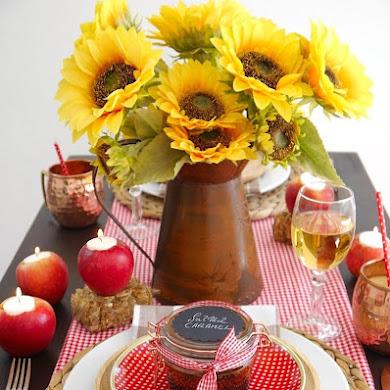 Décor de Table Campagnard Autour de La Pomme