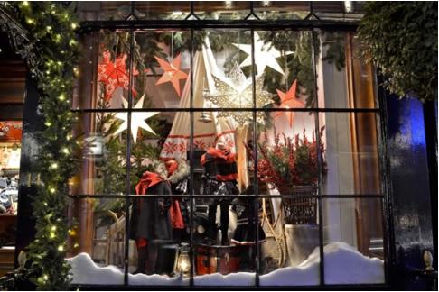 Decoración navideña bonita para ventanas