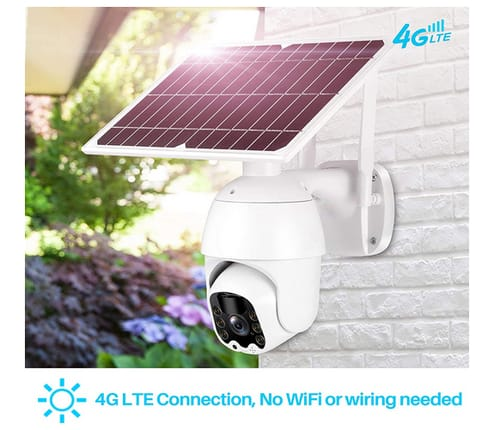 Lykus 4G LTE Solar Pan Tilt Security Camera