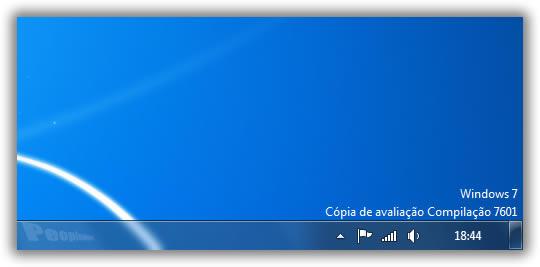 Como retirar a mensagem do windows 7 compilação 7601 esta cópia do windows não é original