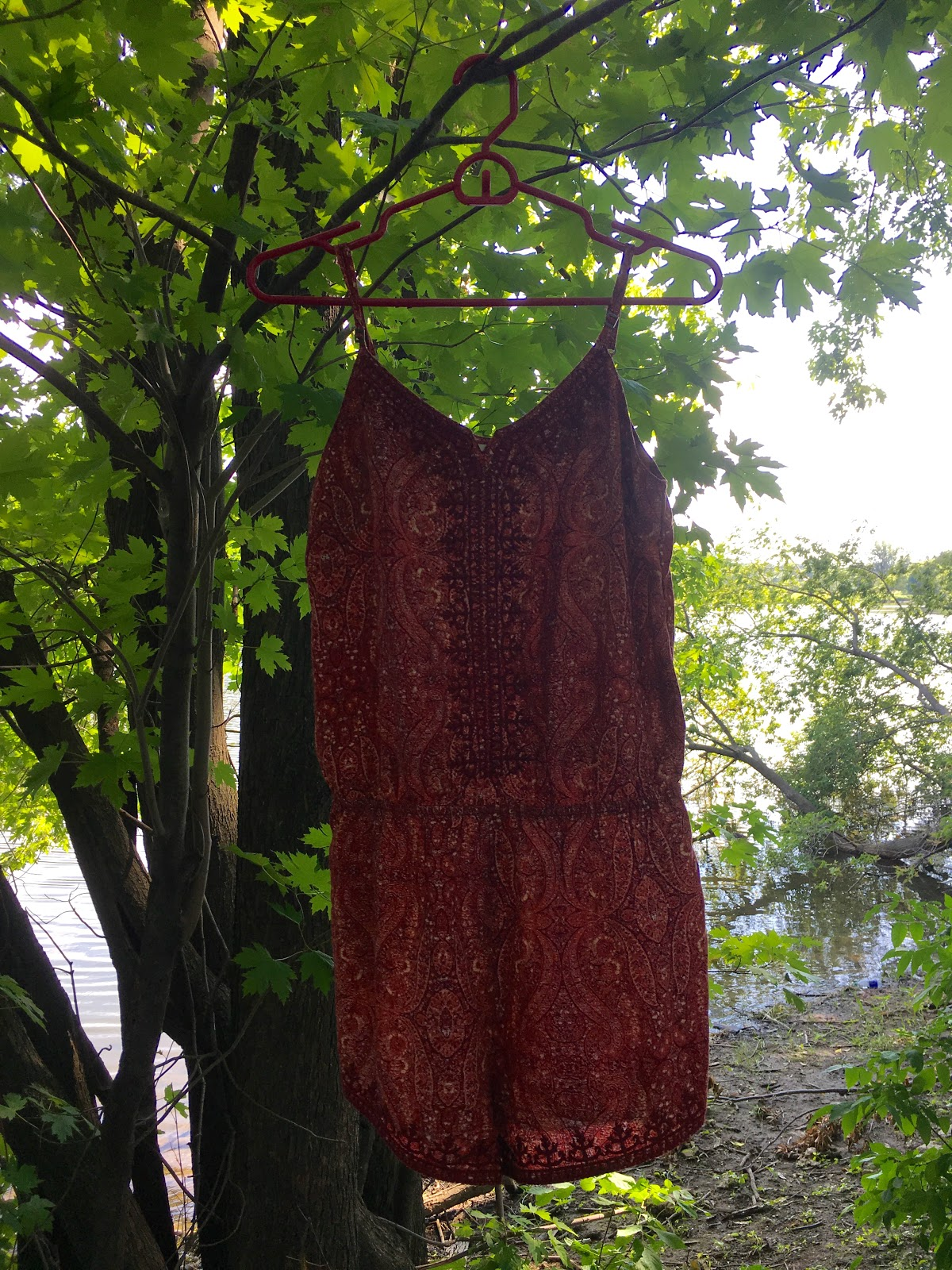 Garage Orange Embroidered Romper | Akinokiki