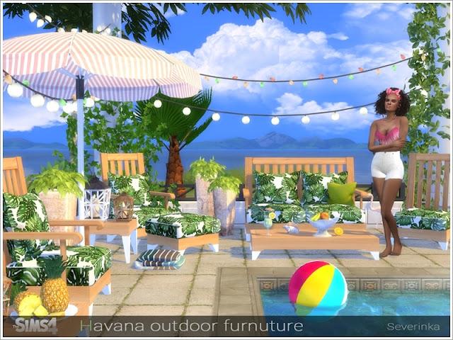 дворик в Sims 4, декор, уголок для отдыха в Sims 4, для отдыха, мебель для улицы, у бассейна, Симс 4, для The Sims 4, The Sims 4, моды для Sims 4, предметы для Sims 4, Severinka_, Sims 4,