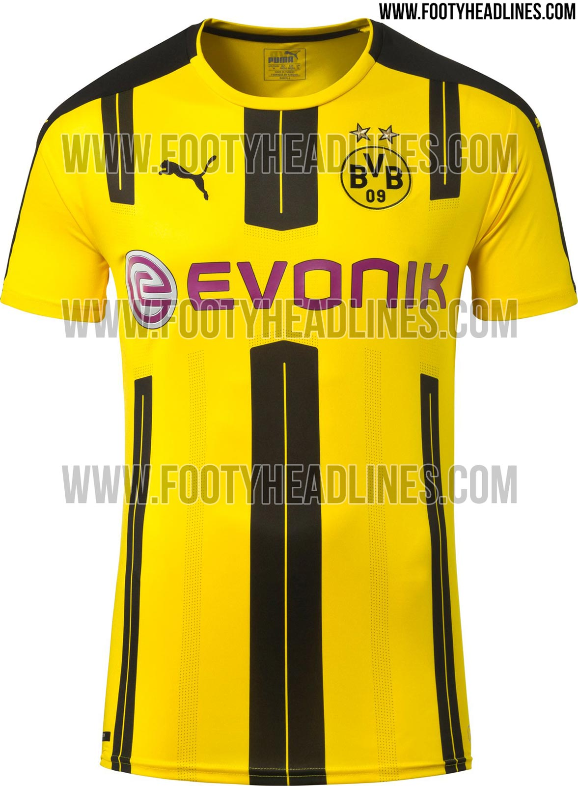 borussia dortmund 16 17 heimtrikot ver ffentlicht nur. Black Bedroom Furniture Sets. Home Design Ideas
