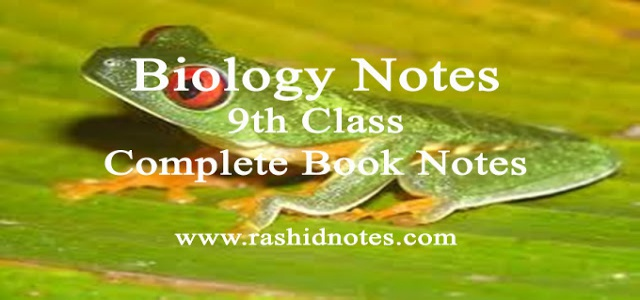 Biology notes for 9th class