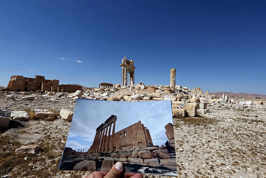 Shocking Pictures Illustrating Syrian Historical Monuments Destroyed By Daesh attacks - The Temple of Bel dated back to 32AD