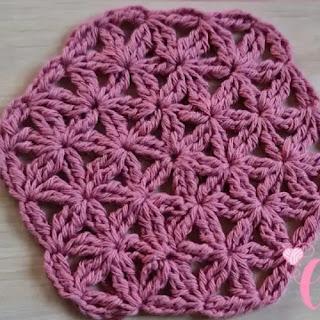 Motivo Flor de la vida a Crochet