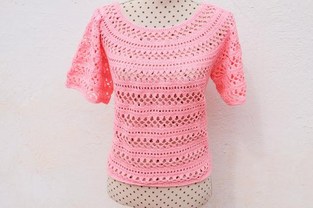 2 - Crochet Imagen Cuerpo de blusa y jarsey a crochet por Majovel Crochet