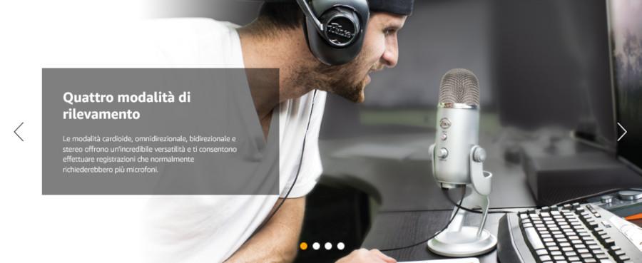 Microfono USB Yeti Blue Professional Multi-Pattern