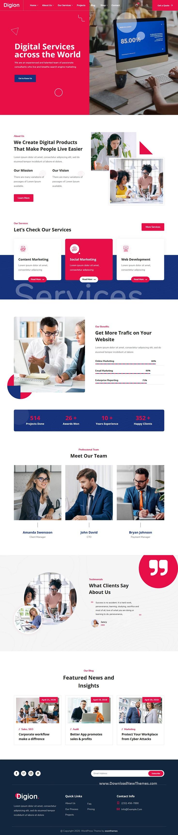 Online Digital Marketing WordPress Theme