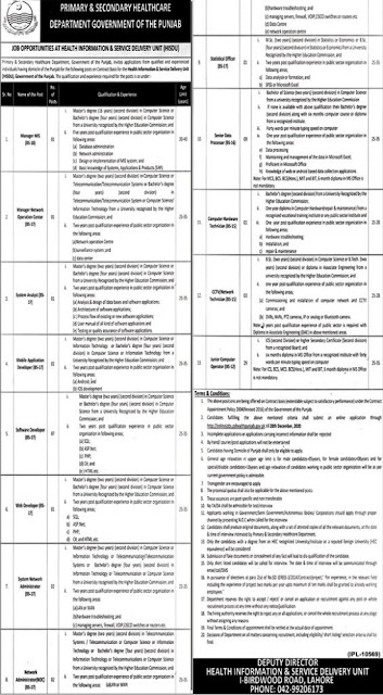 primary-and-secondary-healthcare-department-punjab-jobs-2020-advertisement