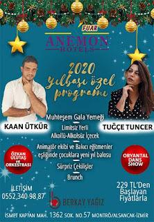 anemon hotels alsancak izmir yılbaşı programı 2020