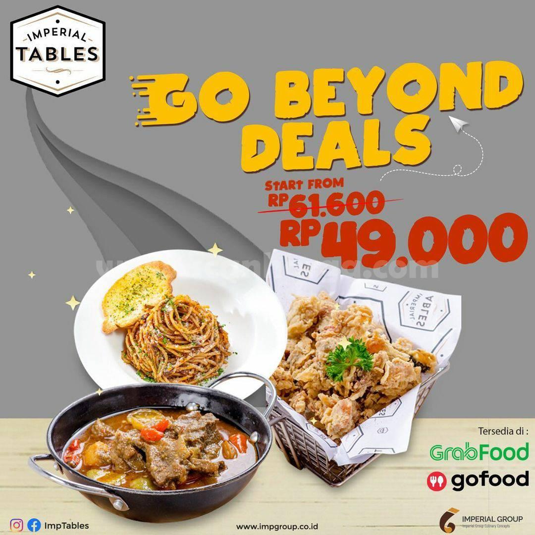 Promo Imperial Tables: Paket Go Beyond Deals Harga mulai dari Rp 49.000