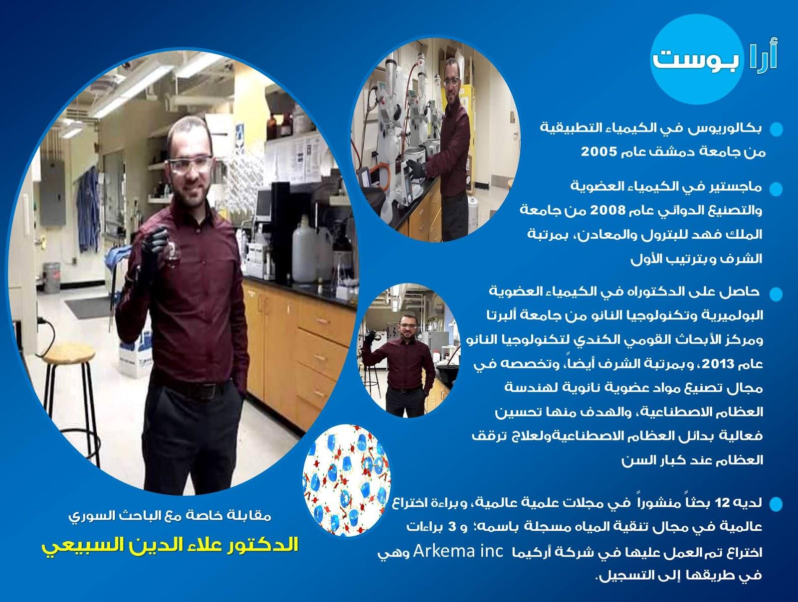 مقابلة خاصة مع الباحث السوري الدكتور علاء الدين السبيعي