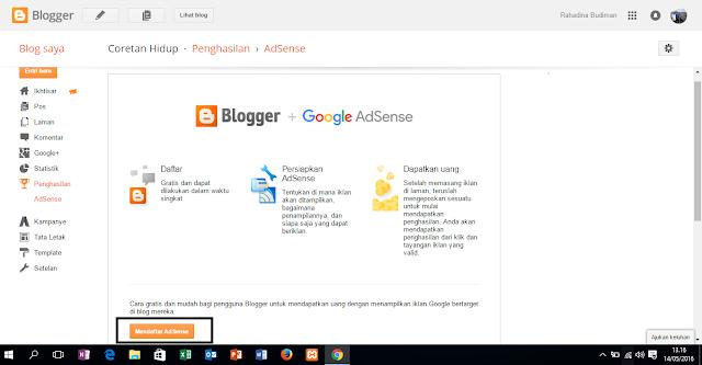 Cara Mudah Mendaftar Google AdSense Melalui Blogger 2016