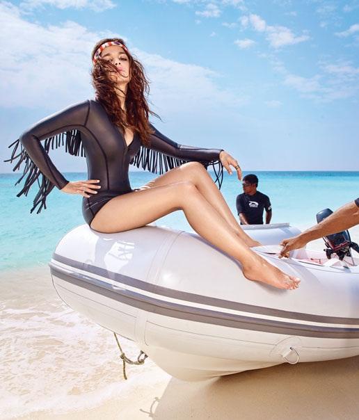 Alia Bhatt Hot in Black Swimsuit