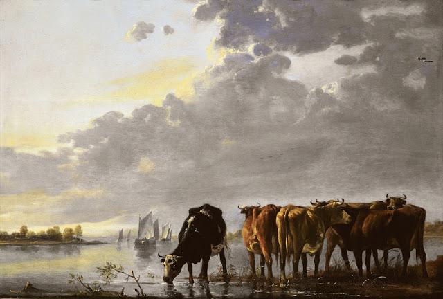 Альберт Кёйп - Стадо на реке. ок1650