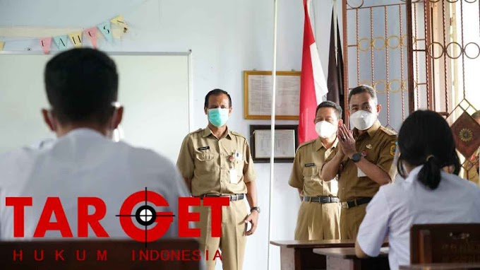 Bupati Haryanto Pantau Uji Coba Pembelajaran Tatap Muka di Beberapa Sekolahan
