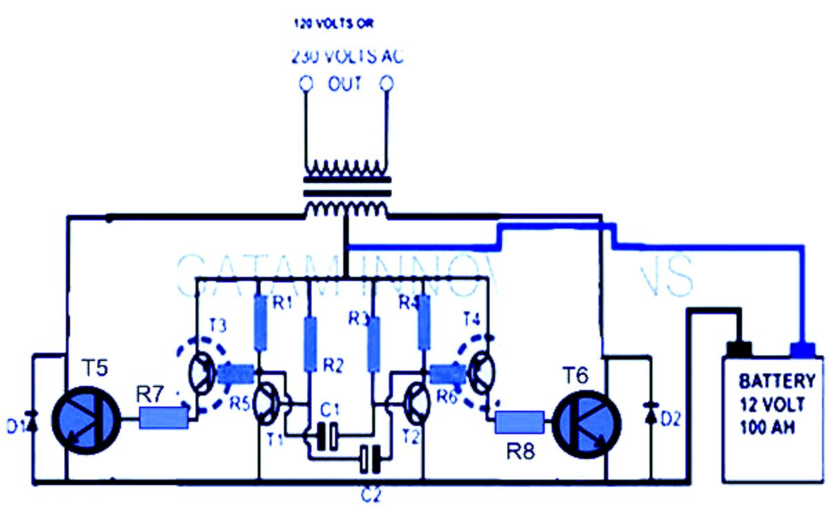 100 W Inverter Circuit Diagram Wiring Library Schematic