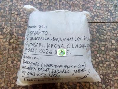 Benih Padi Pesanan   SUBIYAKTO Cilacap, Jateng.   (Setelah di Packing).