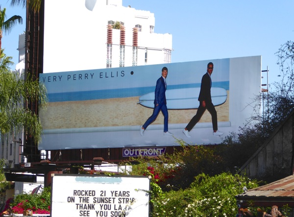Very Perry Ellis surfboard Spring 2016 billboard