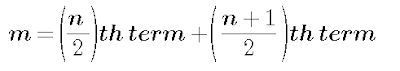 Formula of median