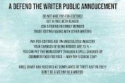 A Defend the Writer Public Annoucement