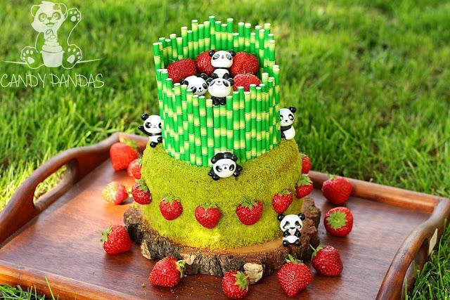 Szpinakowy tort na urodziny Pandek (bez glutenu, cukru, laktozy)