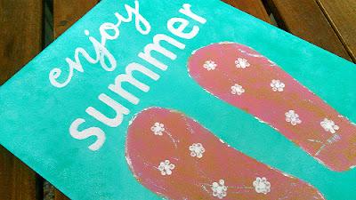 diy καμβάς enjoy summer