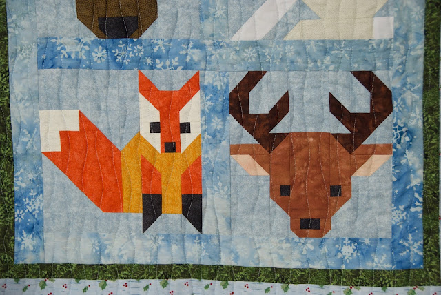 fox quilt block, deer quilt block