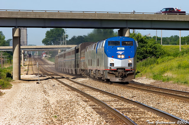 Amtk 68 leads Amtrak's Southwest Chief on BNSF's Marceline Subdivision.