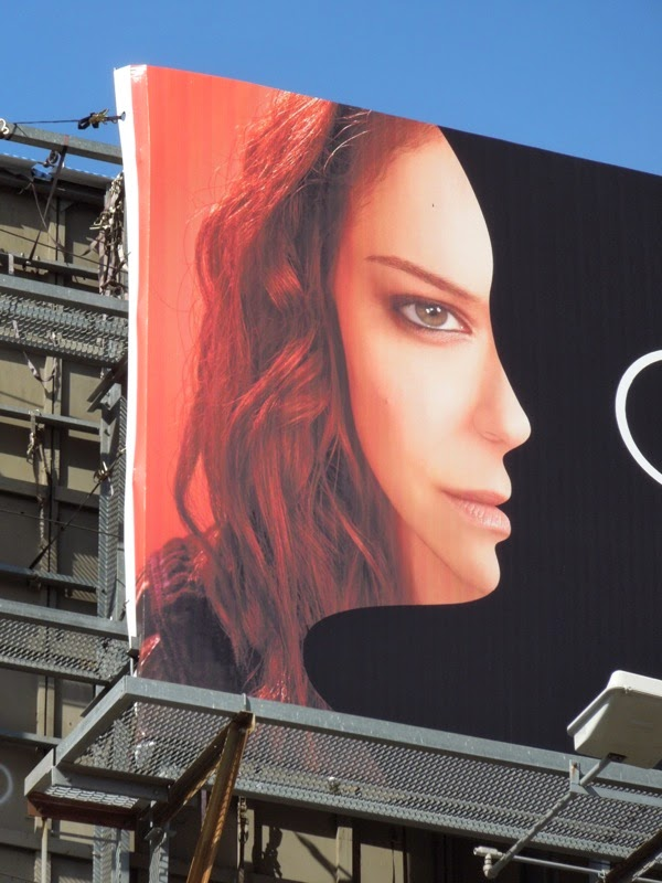 Orphan Black season 2 face billboard