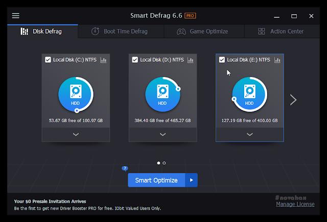 Iobit smart defrag pro serial key latest