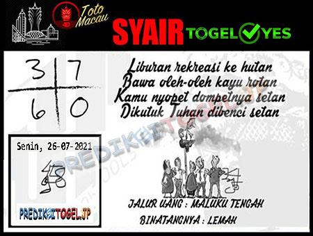 Syair Togel Yes Macau Senin