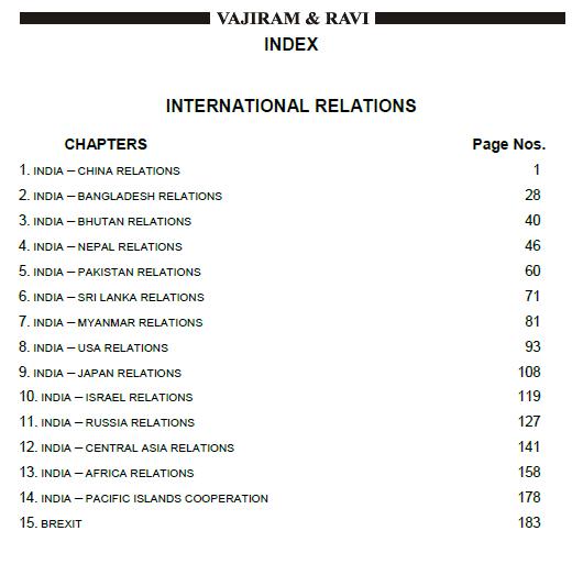 Vajiram IAS- Notes on International Releation